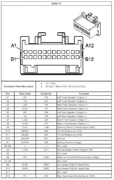 chevy cobalt stereo wiring diagram chevy