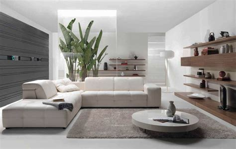 White Modern Living Room by All White Modern Living Room Modern House