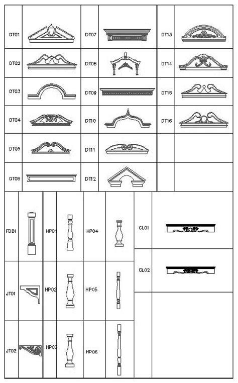 Ornamental Parts V6 Cad Drawings Download Cad Blocks