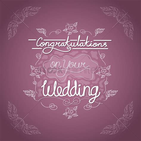 Wedding Congratulations Vector by Congratulations On Your Wedding Card Vector Image