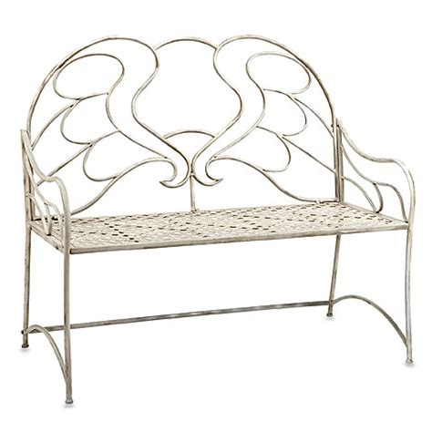 cream garden bench cream garden bench with angel wing design bed bath beyond
