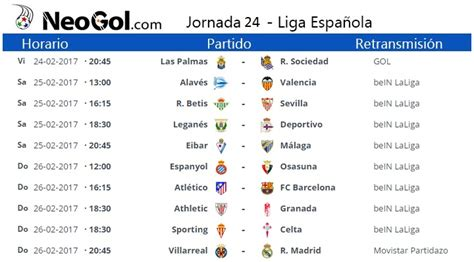 Calendario De La Liga Santander Jornada 24 Liga Espa 241 Ola 2017 Laliga Santander