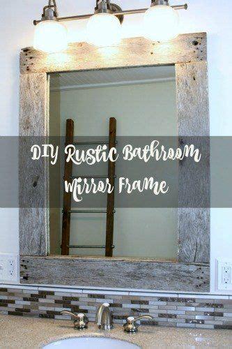 diy rustic mirror frame bathroom ideas diy pallet