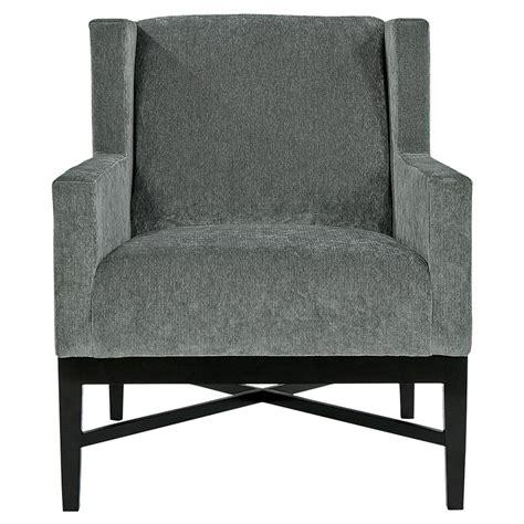 Modern Grey Armchair Hopper Modern Classic Mocha Wood Grey Armchair