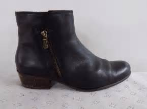 clarks womens ankle boots size uk 8 black leather 163 9 99