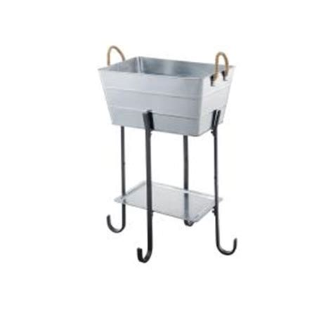 galvanized metal beverage tub with stand 14027 the home