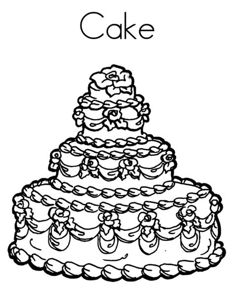 coloring page wedding cake wedding cake coloring pages printable coloringstar sketch