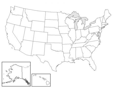 usa map outline with states blank states map dr