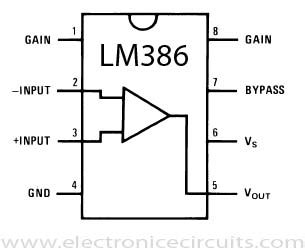lm386 integrated circuit lifier chip lm386 chip
