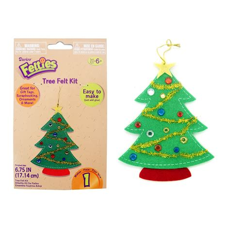 felt christmas tree kit foam stickers sheets from