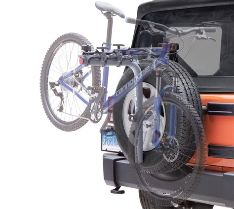 Bike Rack For Spare Tire by Sportrack Pathway Spare Tire Deluxe Bike Rack Free Shipping