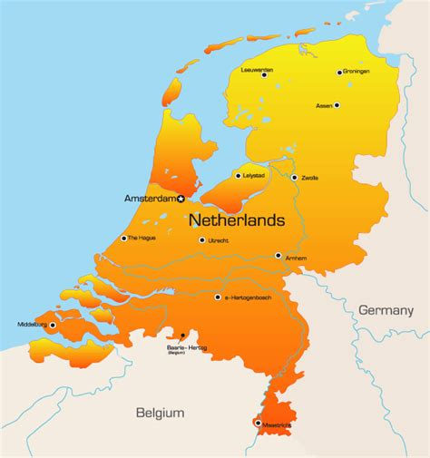 netherlands large map netherlands map showing attractions accommodation
