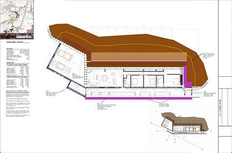 Global Model Earthship Three Bedroom Construction Drawings