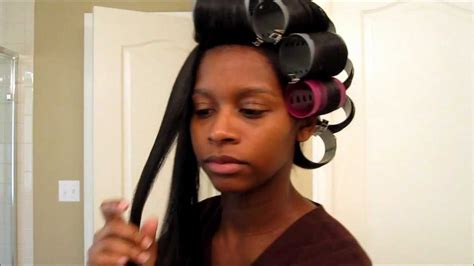 what are the best rollers for blackhair natural hair roller setting straight natural hair youtube