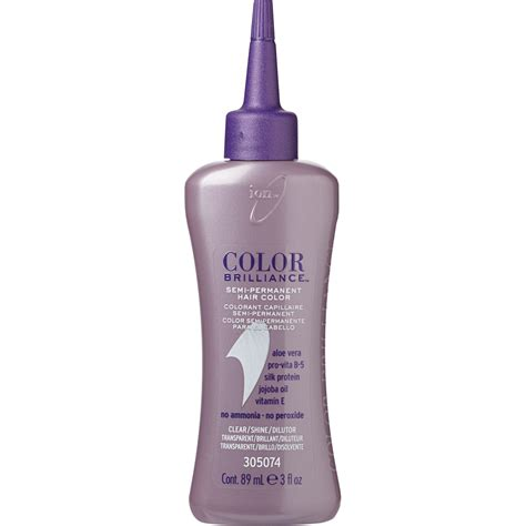 clear hair color ion color brilliance semi permanent hair color clear