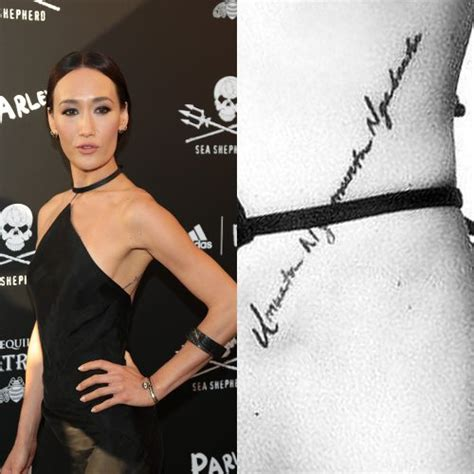 q tattoo maggie q right arm www pixshark images