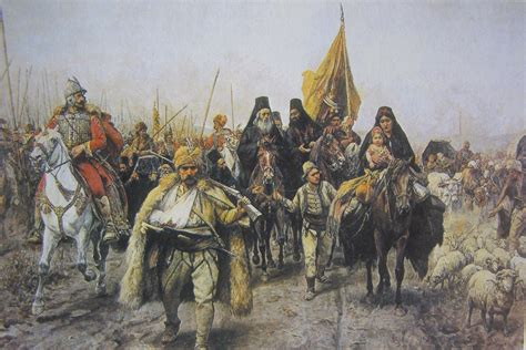 Escape Of The Serbs From The Ottomans