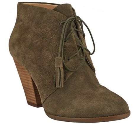 sole society boots sole society suede lace up ankle boots tallie qvc