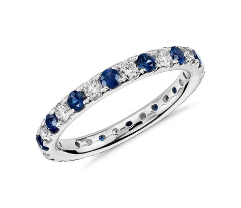 pave sapphire ring riviera pav 233 sapphire and eternity ring in
