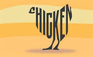 a chicken made of text by john lemasney via 365sketches