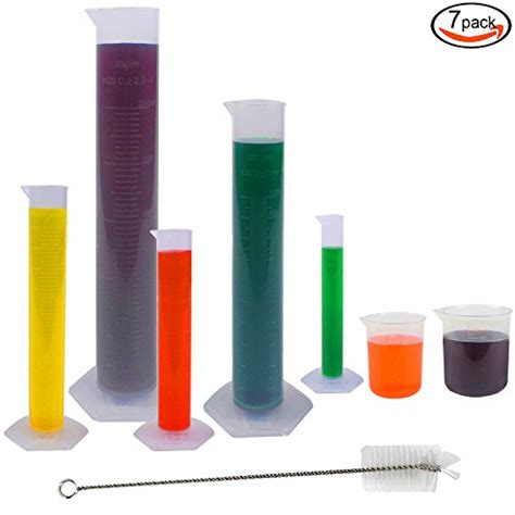 100 5 Pcs Rainbow rainbow b 5 pcs clear plastic graduated cylinder 10 25
