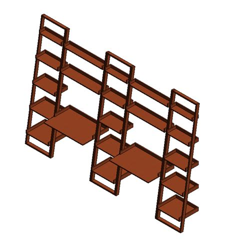 crate and barrel sloane leaning bookcase crate barrel sloane java leaning bookcase 3d model 3d