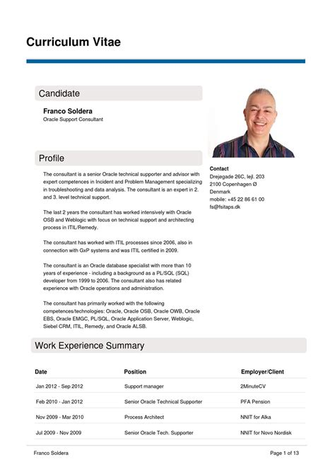 Cv Fitness Consulting oracle support consultant cv by 2minutecv issuu