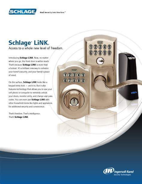 Schlage Door Knob Manual by Door Users Guides From Quot Door Quot