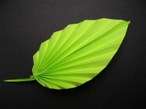 Paper Leaf Craft - origami paper leaf 3d origami and craft