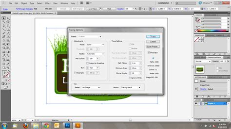 adobe illustrator pattern options converting raster images to vector