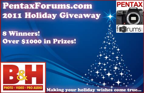 Holiday Giveaway Competitions - announcing the 2011 holiday giveaway giveaways and events pentaxforums com