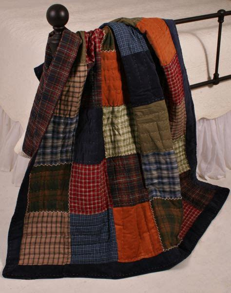 Plaid Patchwork Quilts - americana cambridge plaid patchwork quilt throw tweed