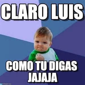 Memes De Luis - claro luis success kid meme en memegen