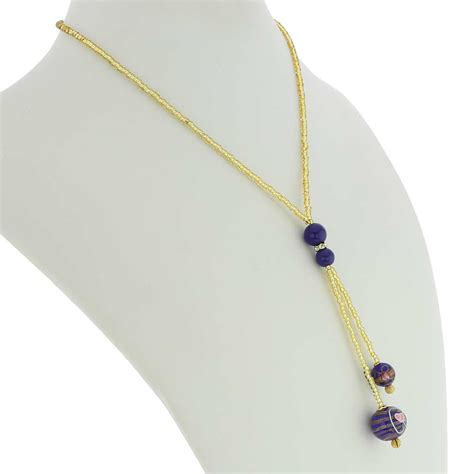 Glass Tie Necklace murano necklaces murano fiorato tie necklace