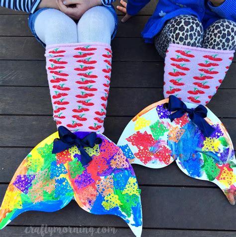 mermaid crafts for diy mermaid sock tails craft