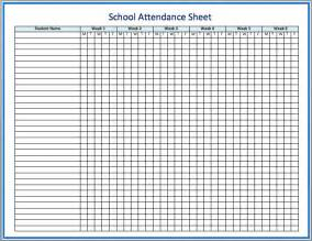 School attendance sheet printable importance of attendance sheets in