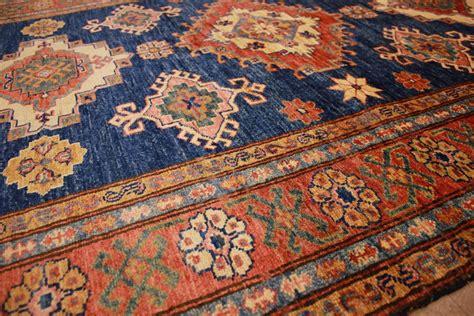 orient teppich orient teppich quot kazak quot reine wolle 190x135 cm blau