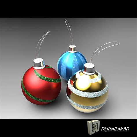 3d christmas ball ornaments decorations