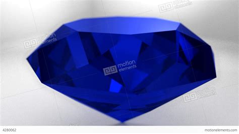 sapphire blue sapphire blue diamond gemstone gem stone spinning stock