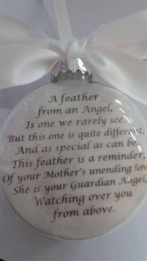 in memory ornament of loved one quot a feather from a guardian