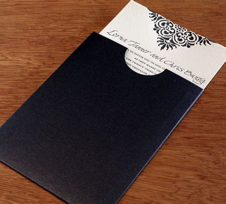 invitation pockets for letterpress cards letterpress wedding invitation - Wedding Invitation Pocket Sleeves