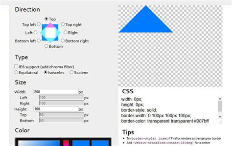 css triangle pattern generator css3 tools generators web graphic design bashooka
