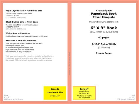 book publishing templates how to make your book s print cover using microsoft