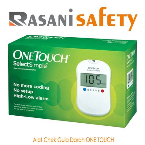 Alat Tes Gula Darah One Touch alat chek gula darah one touch rasani safety