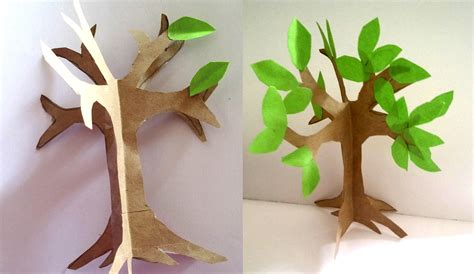 How To Make Craft From Paper - how to make an easy paper craft tree imagine forest