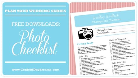Wedding Planner Email List by Wedding Photography Checklist Archives Confetti