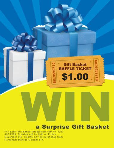 surprize gift raffle flyer template ticket template