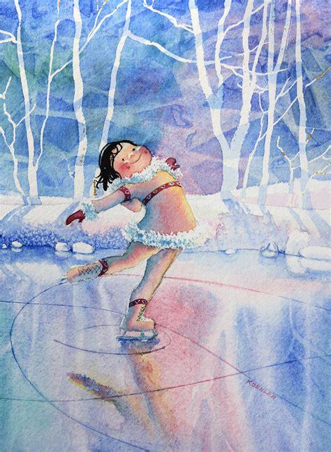 figure skater 14 painting by hanne lore koehler