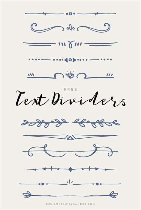 design lines font text dividers designs by miss mandee