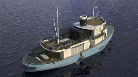 luxury tugboat yacht cobra yacht s conversion of tugboat le lutteur into a